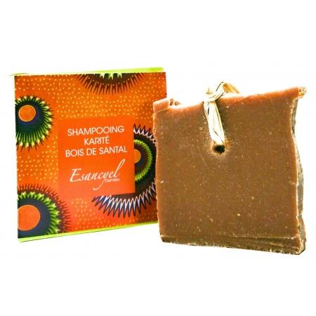 Shampoing Solide NATUREL  Karité Bois de Santal ,Saponifié à froid- redonne du volume -120 grs