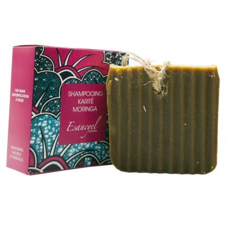 Shampoing solide Karité à la poudre de Moringa 120 grs Saponifié à froid