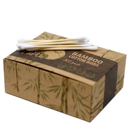 Coton tiges biodégradables en ouate et bambou X 200 - 1unités