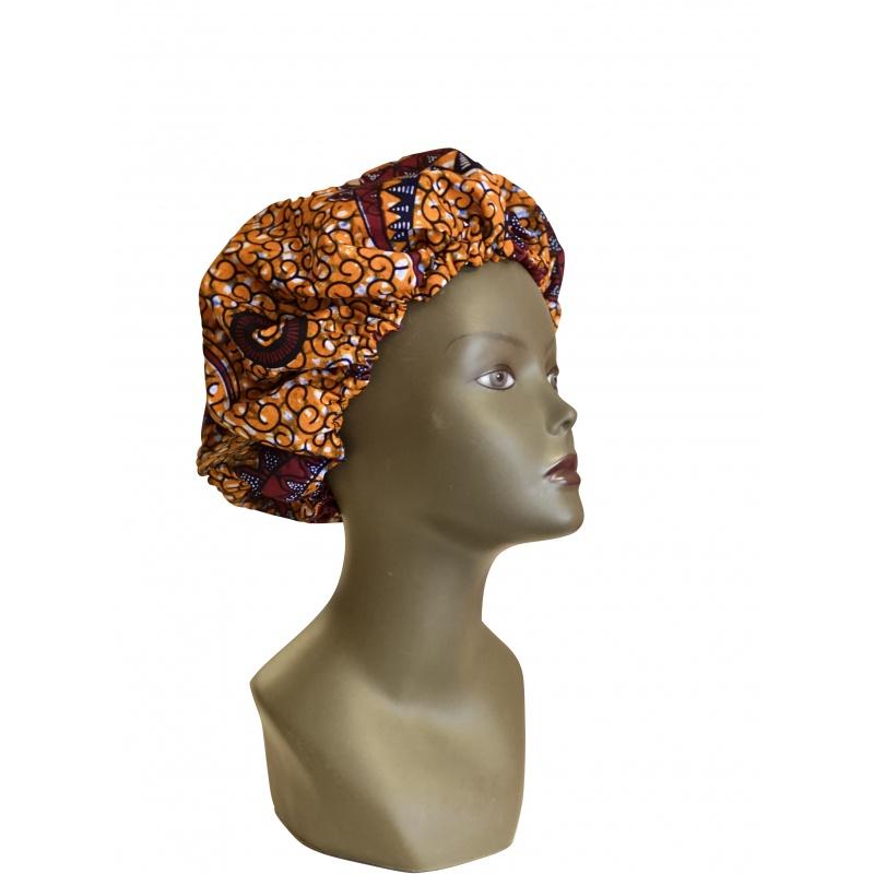 ESANCYEL COSMETICS - Bonnet Wax & Satin Réglable - Protège la Chevelure du Dessèchement -