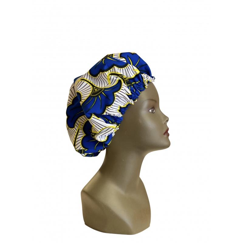 ESANCYEL COSMETICS - Bonnet Wax & Satin Réglable - Protège la Chevelure du Dessèchement - Limite la Casse due aux Frottements -