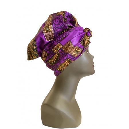 Turban en Bazin aux couleurs explosantes - facile à porter- facile à utiliser