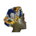 Bonnet réglable wax fleur de mariage, doublé de satin assorti pour la protection de vos cheveux