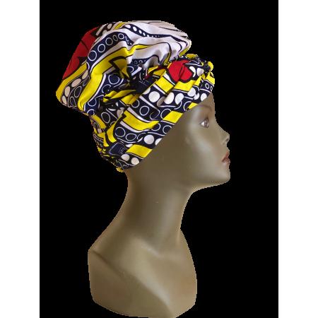 Turban aux couleurs explosantes facile à porter