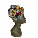 Turban Africain Design Fleurs de Mariage