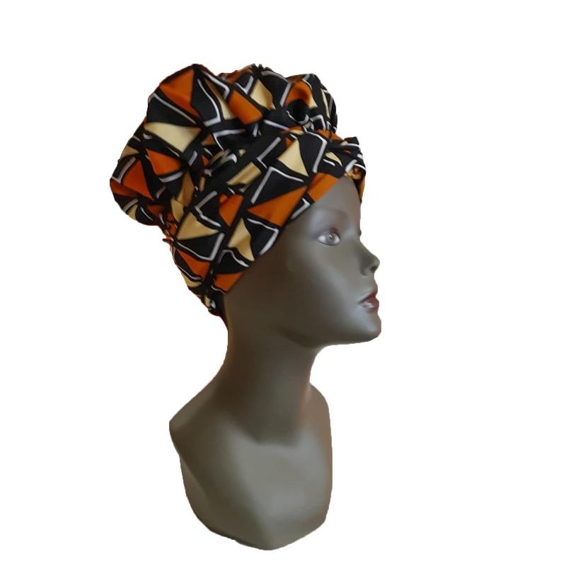 Turban Africain Design fushia