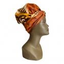Turban pour l'été wax savane doublé de satin
